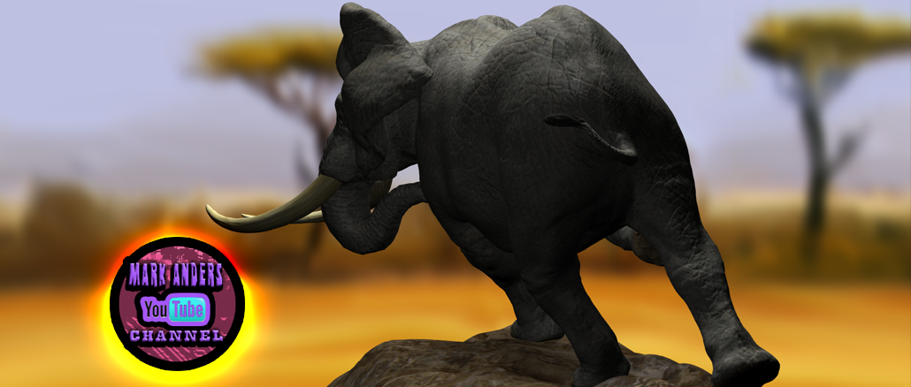 3D Digital Elephant