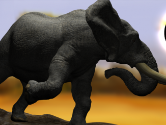 Digital 3D Elephant